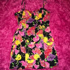 Vintage Corseted Floral Dress